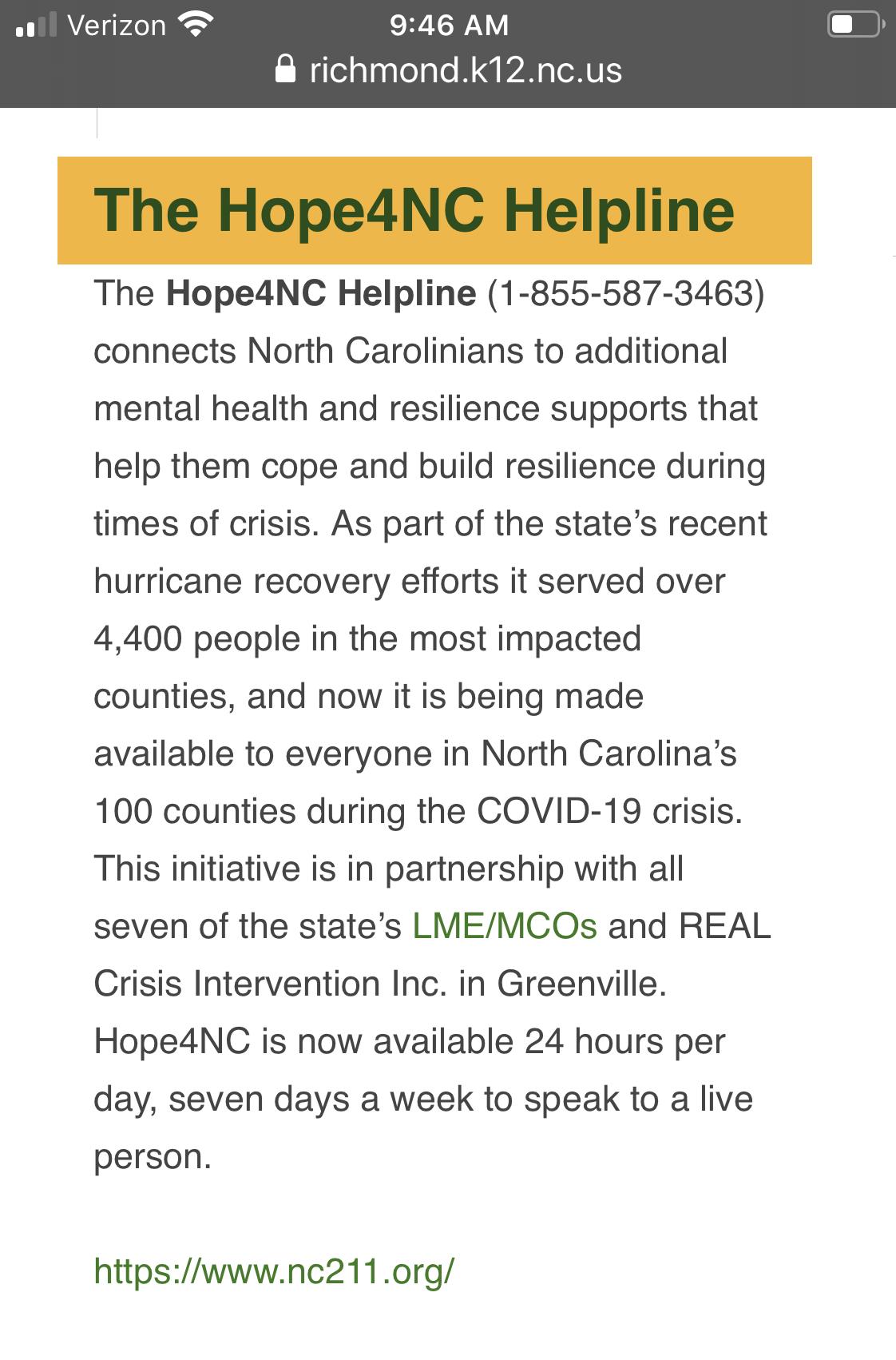 NC Hotline